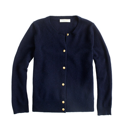 Girls' cashmere star-button cardigan