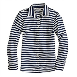 Lightweight boy shirt in stripe