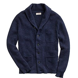 Cotton three-pocket cardigan