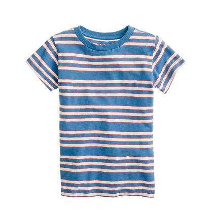 Boys' slub tee in engineered stripe
