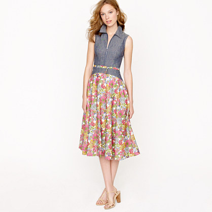 Creatures of the Wind for J.Crew sleeveless zip dress