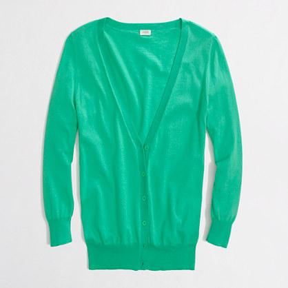 Factory summerweight cotton cardigan