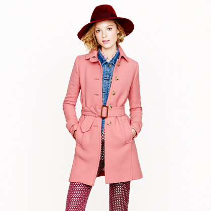 Petite double-cloth slim trench