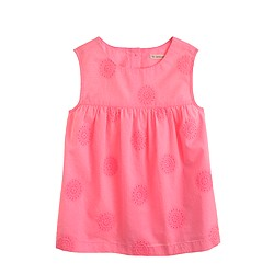 Girls' sleeveless eyelet tunic