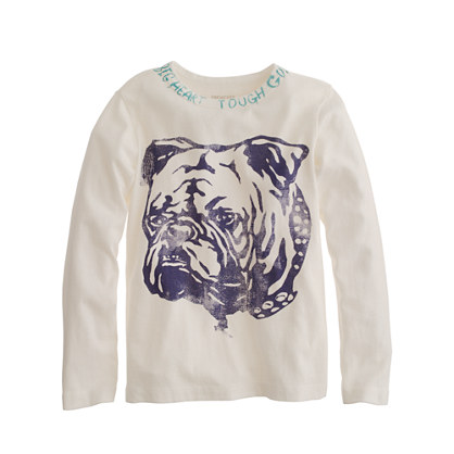 Boys' long-sleeve bulldog tee