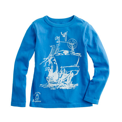 Boys' long-sleeve see the world tee