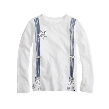 Boys' long-sleeve suspenders tee