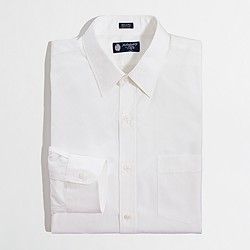 Factory slim point-collar dress shirt in white
