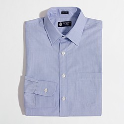 Factory slim point-collar end-on-end dress shirt