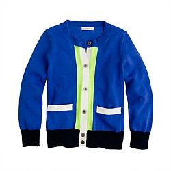 Girls' Caroline cardigan in colorblock