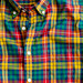 Tartan shirt in warm cider