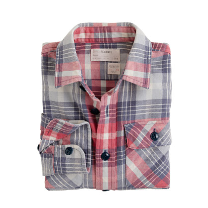 Boys' shirt in sunwashed flannel