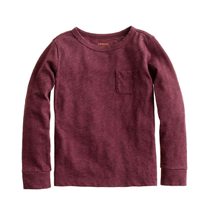 Boys' long-sleeve pocket tee
