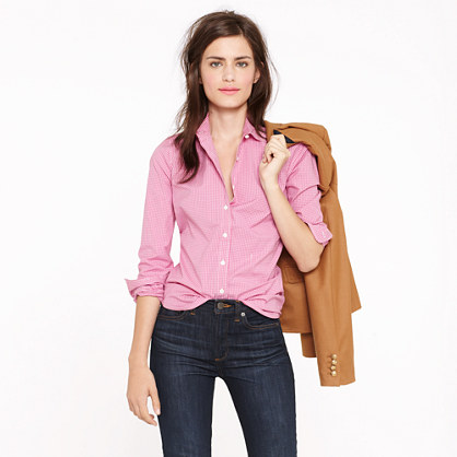 Stretch perfect shirt in mini-windowpane