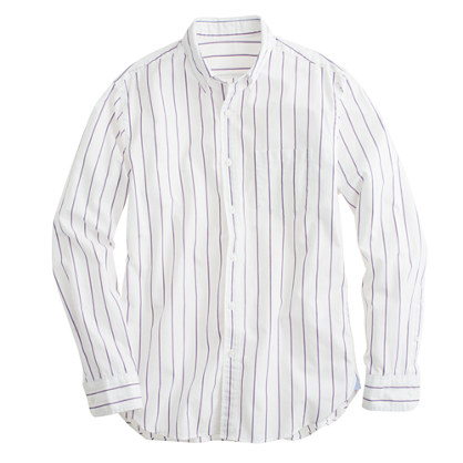 Secret Wash shirt in blue sapphire stripe