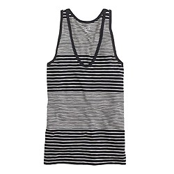 Vintage cotton tank in block stripe