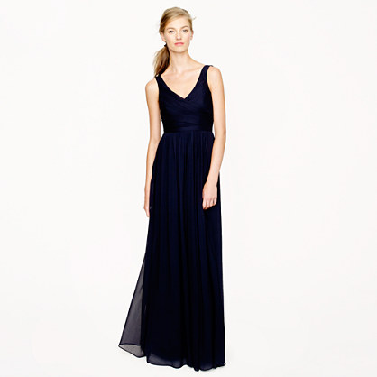 Heidi long dress in silk chiffon