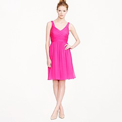Petite Heidi dress in silk chiffon