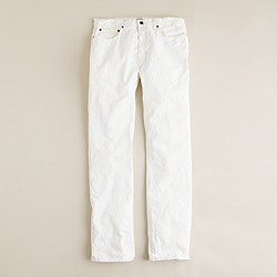 Slim-straight jean in antique white