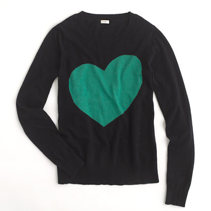 Factory heart crewneck sweater