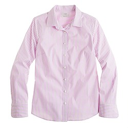 Stretch perfect shirt in medium gingham