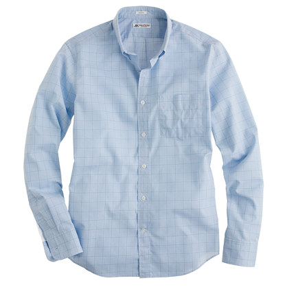Thomas Mason® for J.Crew slim shirt in green point windowpane check