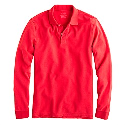 long-sleeve classic piqué polo