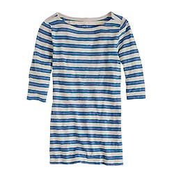 Painter elbow-sleeve boatneck tee in nautical stripe