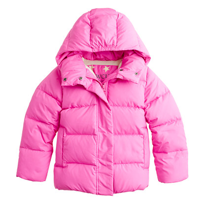 Girls' short puffer