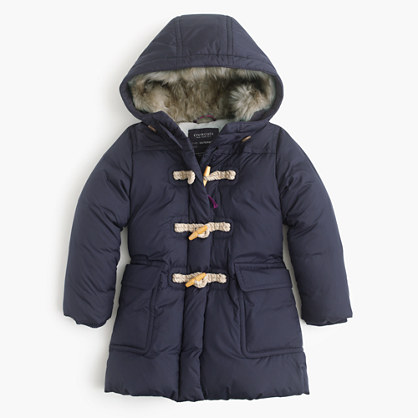 Girls' toggle puffer
