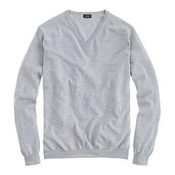 Tall merino V-neck sweater