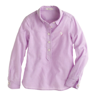 Girls' tissue oxford popover