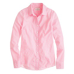 Perfect shirt in suckered gingham