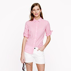 Tall perfect shirt in suckered gingham