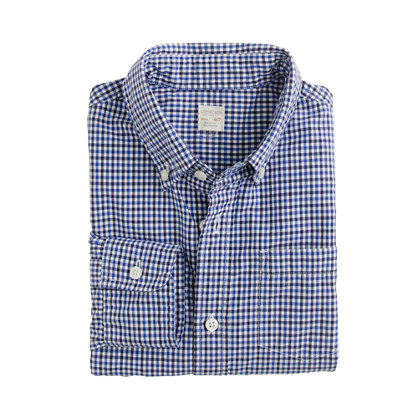 Boys' Secret Wash shirt in tattersall