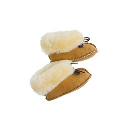 Minnetonka® baby tied shearling booties