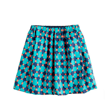 Girls' sateen bubble skirt in geometric dot