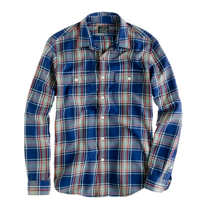 Flannel shirt in wild blueberry plaid