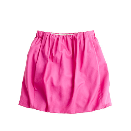 Girls' sateen bubble skirt