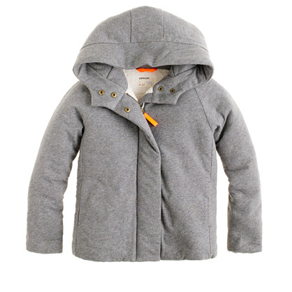 Girls' knit puffer jacket