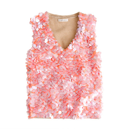 Girls' sequin sweater-vest