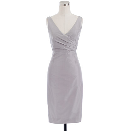 Petite Sara dress in silk taffeta