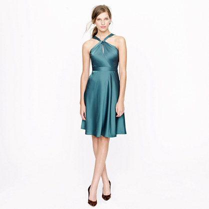 Sinclair halter dress in tricotine