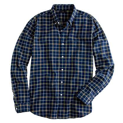 Slim oxford plaid shirt in hawthorne yellow