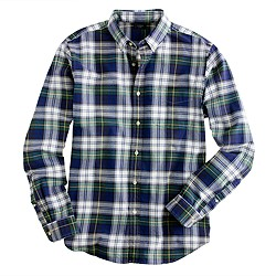 Oxford plaid shirt in burnished spruce