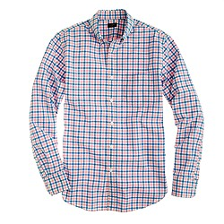 Secret Wash shirt in multi-gingham