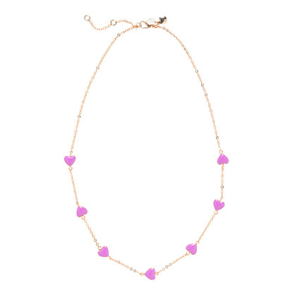 Girls' bright hearts necklace
