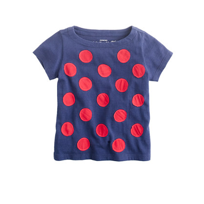 Girls' crinkle dot top