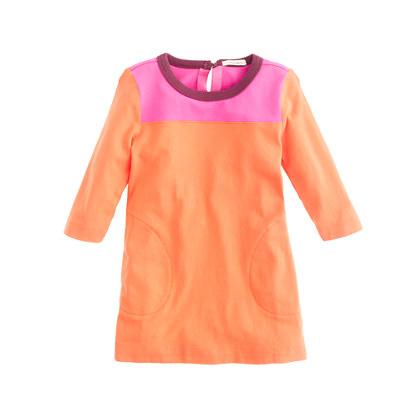 Girls' colorblock tunic