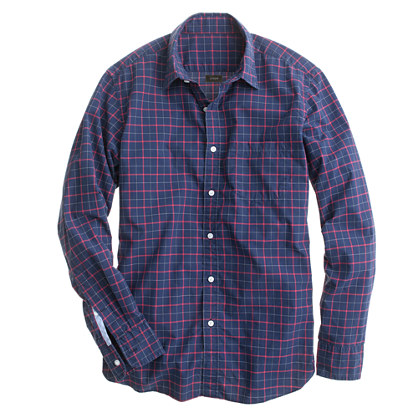 Slim Secret Wash shirt in dark navy check